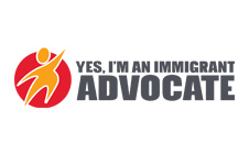 Yes. Im and immigrant advocate logo