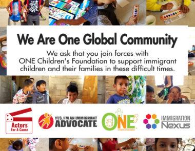 ONE CHILDREN'S FOUNDATION LAUNCHES VITAL COVID-19 CAMPAIGN