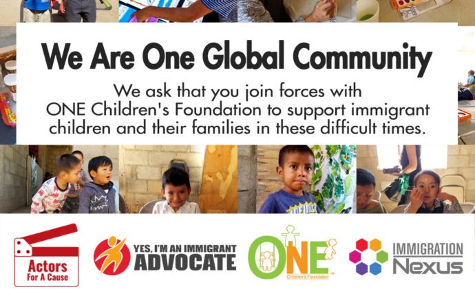 We are one global community banner